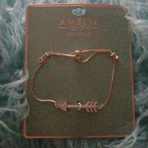 Jewelry - Rose gold tone adjustable bracelet